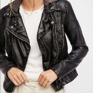 Free People Vegan Leather Hooded Jacket - 8